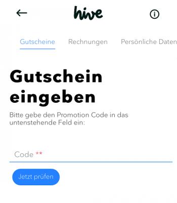 hive Gutschein